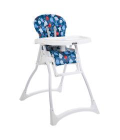 Cadeira-de-Alimentacao-com-2-Bandejas-e-Cinto-de-Seguranca---Merenda---Passarinho---Azul---Burigoto