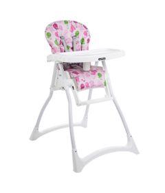 Cadeira-de-Alimentacao-com-2-Bandejas-e-Cinto-de-Seguranca---Merenda---Passarinho---Rosa---Burigotto