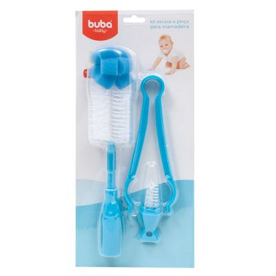 Kit-Escova-e-Pinca-para-Mamadeira---Azul---Buba