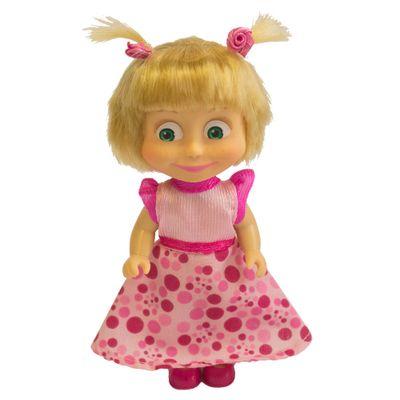 Boneca-sem-Mecanismo---12-Cm---Masha-e-o-Urso---Masha-Estilos---Vestido-Rosa---Sunny