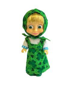 Boneca-sem-Mecanismo---15-Cm---Masha-e-o-Urso---Masha-Cores---Verde---Sunny