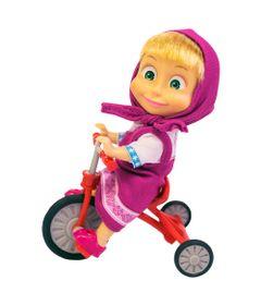 Boneca-sem-Mecanismo---15-Cm---Masha-e-o-Urso---Masha-Triciclo-Divertido---Sunny
