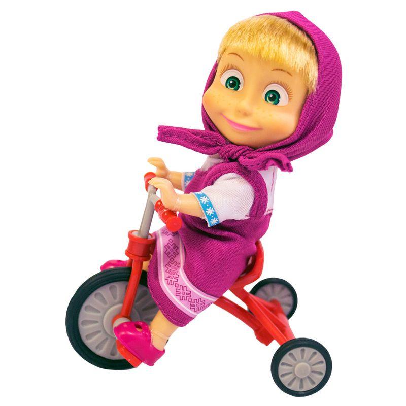 91feaf8d05 Boneca sem Mecanismo - 15 Cm - Masha e o Urso - Masha Triciclo Divertido -  Sunny - Ri Happy Brinquedos