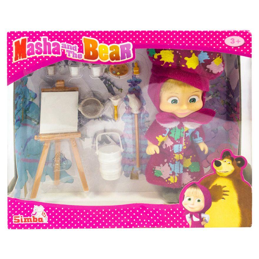 Boneca-com-Acessorios---15-Cm---Masha-e-o-Urso---Masha-Pintura-Divertida---Sunny