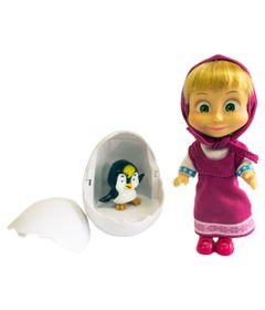 Boneca-sem-Mecanismo---10-Cm---Masha-e-o-Urso---Masha-e-o-Pinguim---Sunny