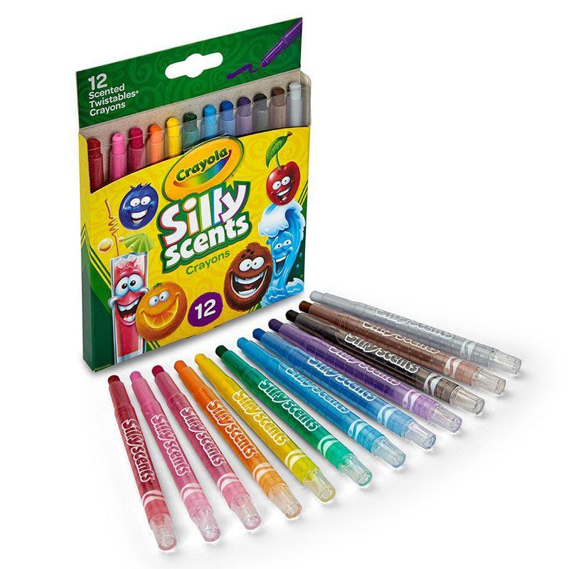 Giz de Cera Perfumado - Silly Scents Twistables Crayons - 12 Cores