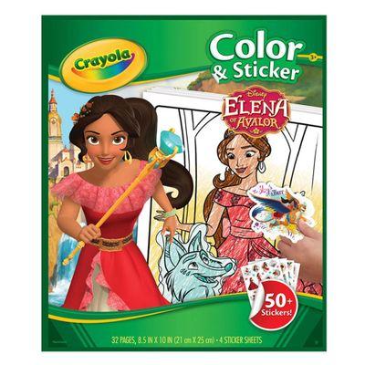 Livro-para-Colorir---Disney---Elena-de-Avalor---Crayola---FRENTE