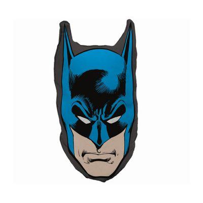 Almofada---DC-Comics---Recorte-Face---Batman---45-x-23---Azul-e-Preto---Metropole