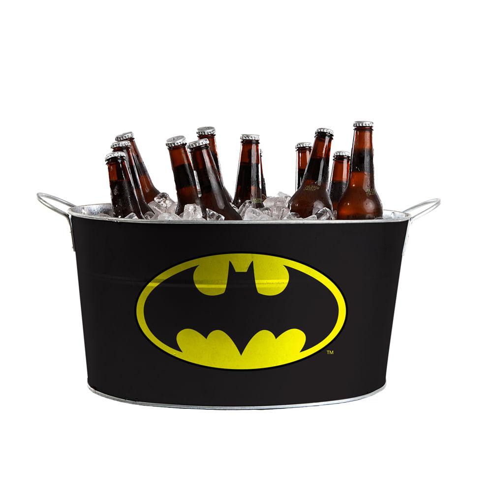 Balde de Gelo Oval de Metal - DC Comics - Batman - 39x24x23,5 cm - Preto - Metrópole
