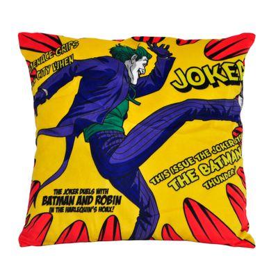 Capa-para-Almofada---DC-Comics---Joker-Kiking---Amarelo---45x45---Metropole