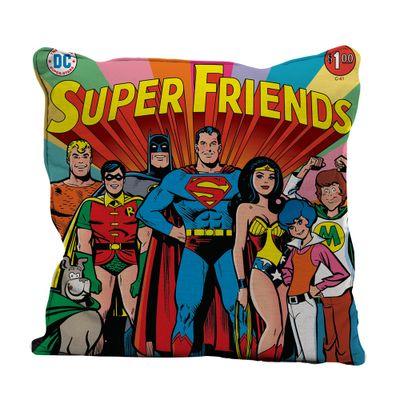 Capa-para-Almofada---DC-Comics---Super-Friends---45x45---Colorido---Metropole