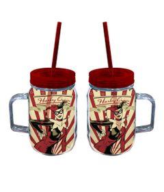 Copo-Jarra-com-Canudo---DC-Comics---Harley-Quinn---Metropole