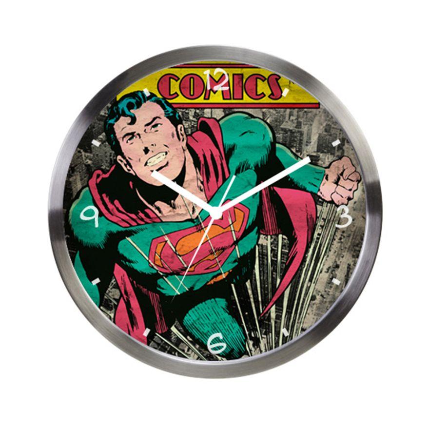 Relogio-de-Parede-Decorativo---DC-Comics---Superman---Metropole