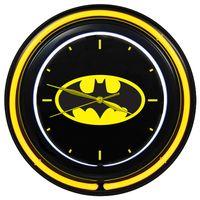 Relogio-de-Parede-Dupla-Neon-Plastico-e-Vidro---DC-Comics---Logo-do-Batman---Metropole