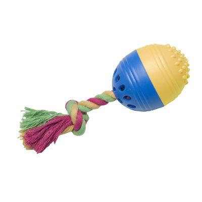 Brinquedos-para-Pet---Happy-Egg-P---Azul-e-Amarelo---Pet-Brink