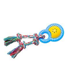 Brinquedos-para-Pet---Mordedor-Happy-Rattle-P---Azul-e-Amarelo---Pet-Brink
