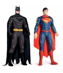 Frente-Kit-de-Figuras-Gigantes---55-Cm---DC-Comics---Batman-e-Superman---Bandeirante