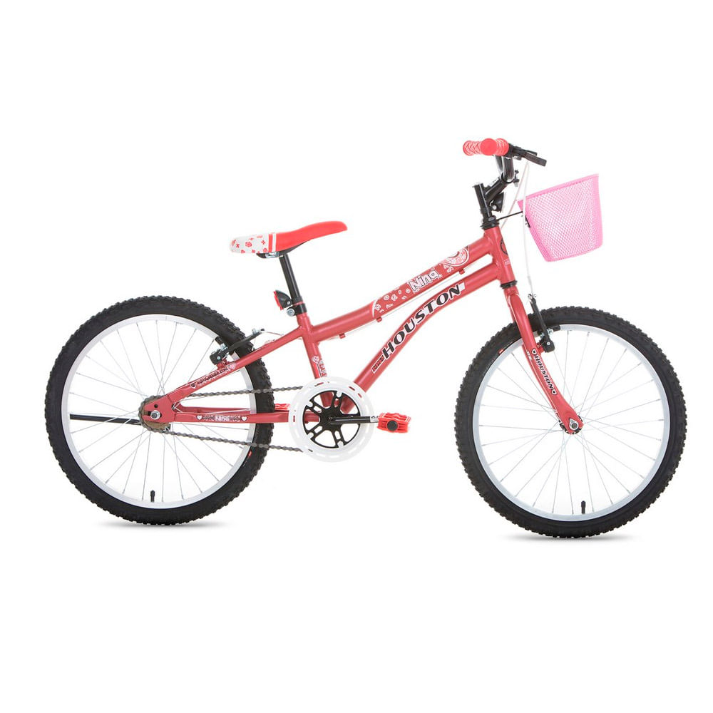 Bicicleta ARO 20 - Nina - Rosa Fosco - Houston