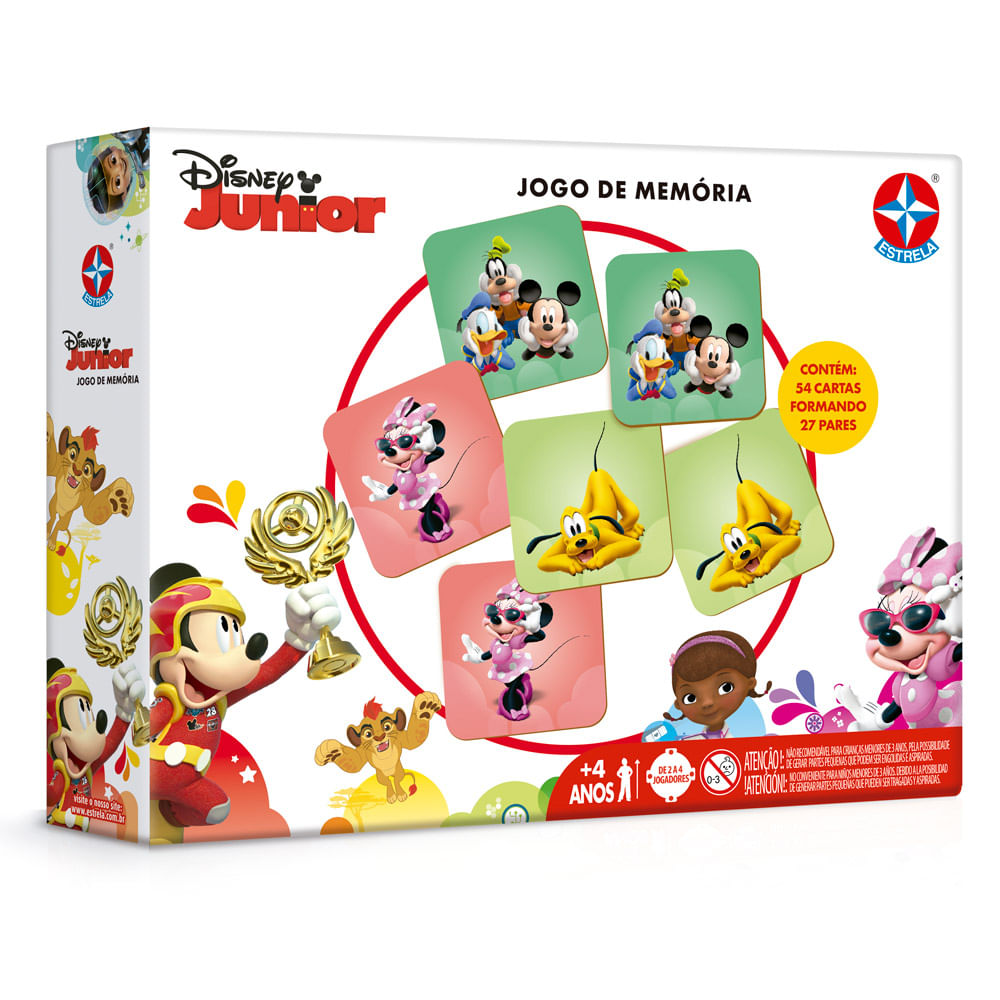 Jogo da Memória Disney Jr - Estrela