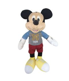Pelucia-18-Cm---Disney---Mickey-Mouse---Tenis-Amarelo---DTC-Frente