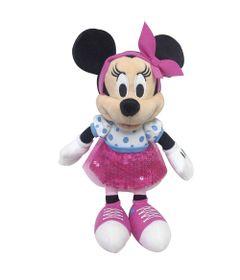 Pelucia-18-Cm---Disney---Minnie-Mouse---Saia-Rosa---DTC-Frente