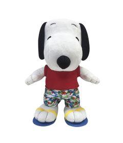 Pelucia-Media---30-Cm---Snoopy---Roupa-de-Verao---DTC-Frente