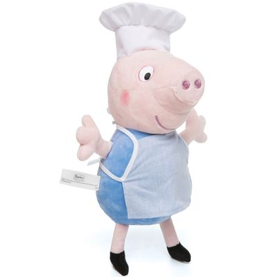 Pelucia-30-Cm---Peppa-Pig---Chef-George---Estrela-Frente