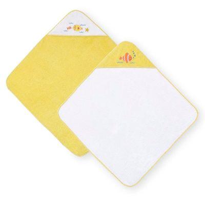 Conjunto-de-Toalhas-de-Banho-com-Touca---Koala-Baby---Branco-e-Amarela---Babies-R-Us