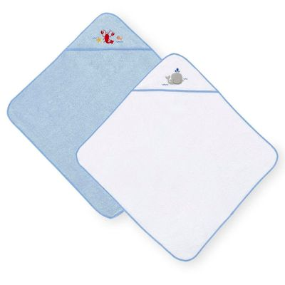 Conjunto-de-Toalhas-de-Banho-com-Touca---Koala-Baby---Branco-e-Azul---Babies-R-Us