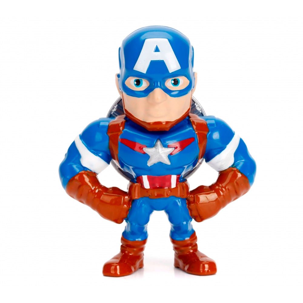 Figura Colecionável 6 Cm - Metals Die Cast - Disney - Marvel Avengers - Capitão América - DTC