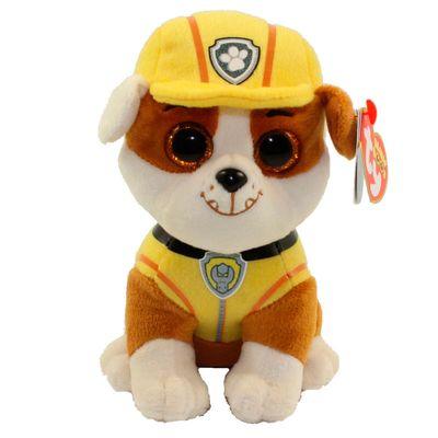 Pelucia-15-Cm---Beanie-Babies---Patrulha-Canina---Rubble---DTC