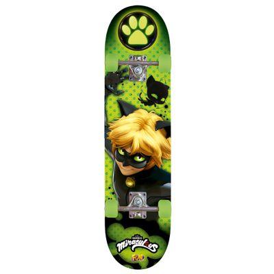 skate-cat-noir-com-acessorios-de-seguranca-fun-Frente