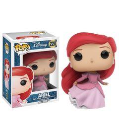 Figura-Colecionavel---Funko-POP---Disney---A-Pequena-Sereia---Ariel-Vestido-Rosa---Funko