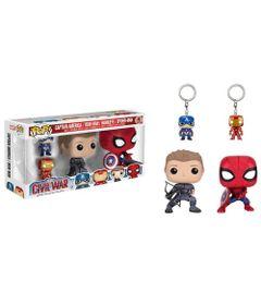 Figura-Colecionavel---Funko-POP---Disney---Marvel---Capitao-America---Guerra-Civil---Pack-Vingadores---Funko
