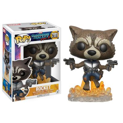 Figura-Colecionavel---Funko-POP---Disney---Marvel---Guardioes-da-Galaxia-2---Rocket---Funko