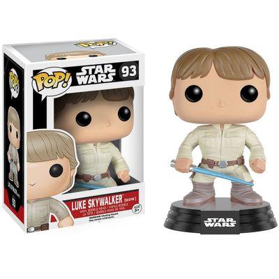 Figura-Colecionavel---Funko-POP---Disney---Star-Wars---Luke-Skywalker-com-Sabre-de-Luz---Funko