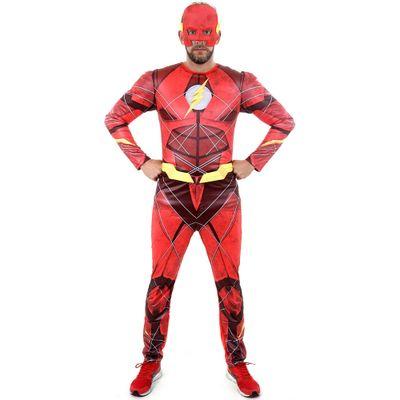 Fantasia-Adulto-Luxo---DC-Comics---Liga-da-Justica---Flash---GG