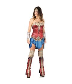 Fantasia-Adulto-Luxo---DC-Comics---Liga-da-Justica---Mulher-Maravilha---G