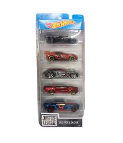 Carrinhos-Hot-Wheels---Pacote-com-5-Carros---Justice-League---Mattel