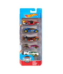 Carrinhos-Hot-Wheels---Pacote-com-5-Carros---Super-Ultimate-Garage---Mattel