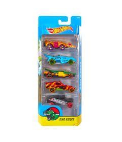 Carrinhos-Hot-Wheels---Pacote-com-5-Carros---Dino-Riders---Mattel