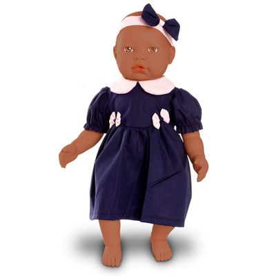 Boneca-Bebe---Baby-By-Jensen---Negra---Vestido-Azul---Roma-Jensen