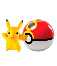 Figura-Pokemon---Pikachu-e-Pokebola---Edimagic