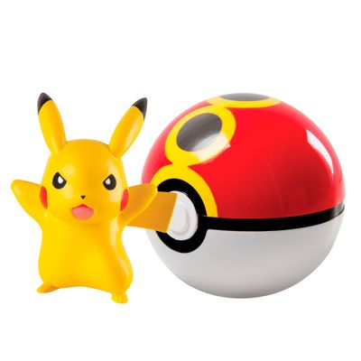 Figura-Pokemon---Pikachu-e-Pokebola---Edimagic