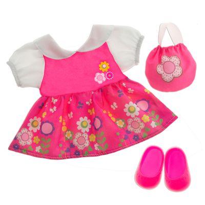 Roupinha-para-Boneca---Baby-Alive---Vestido-Floral---Laco-de-Fita
