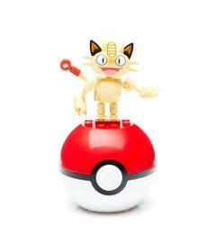 Bloco-de-Montar---Mega-Construx---Pokemon---Pokebola---Meowth---Mattel