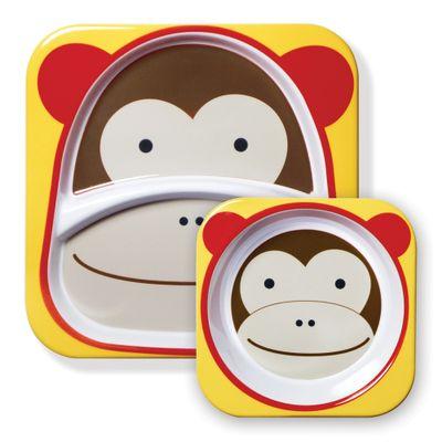 Conjunto-de-Prato-e-Tigela---Zoo---Macaco---Skip-Hop