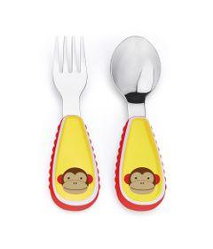 Conjunto-de-Talheres---Garfo-e-Colher---Zoo---Macaco---Skip-Hop