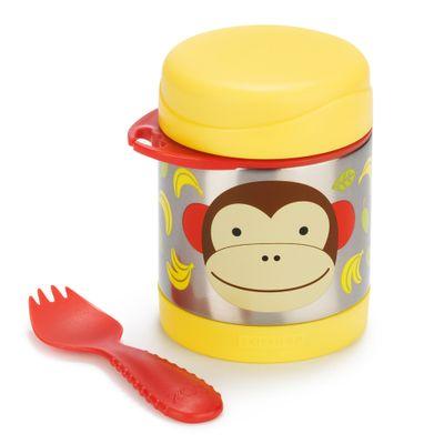 Pote-Termico-e-Colher---Zoo---Macaco---Skip-Hop