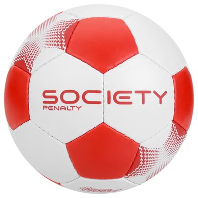 584fc3b0d8 Bola de Futebol Society - Player VII - Branco e Vermelho - Penalty - PBKIDS